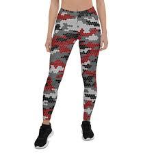 Hex <b>Camo Dark Red</b> Womens Leggings – PARACHRON