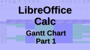 Libreoffice Calc Gantt Chart Part 1