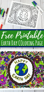 Earth Day Coloring Page For Kids Or Adults Free Printable Views