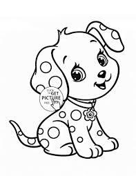 Tranh tô màu con chó ngộ nghĩnh, dễ thương cho bé