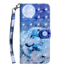 <b>3D Color Painting Flip</b> Wallet Phone Cover for iPhone 7 Plus / 8 Plus ...