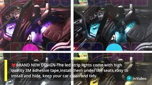 Car Led Strip Light Ejs Super Car 4pcs 36 Led Multi Color