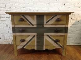 painted furniture union jack autumn vignette. Home Decor- Painted Furniture Featuring Union Jack Dresser Autumn Vignette E
