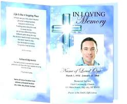 Funeral Program Templates Publisher Pamphlet Template Free Memorial