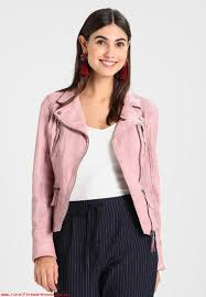 high quality raw materials women light pink oakwood leather jacket uaoxgujw