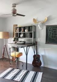 man cave home office. Industrial Man Cave Home Office. Love The Modern Ceiling Fan And That Desk! Awesome Office F
