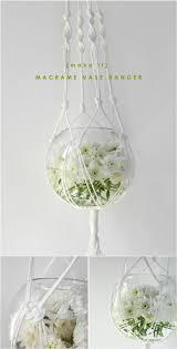 diy white macrame plant hanger