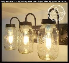 jar light mason jar vanity light new quart trio jar lights diy jar light