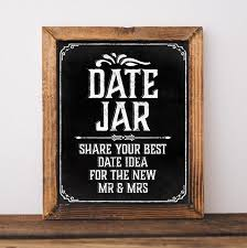 Wedding chalkboard sign. Printable wedding Date Jar sign. Wedding decor. Chalkboard  decor. Chalk board bridal shower decor. Date night ideas