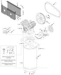 C bell hausfeld tq312600 parts diagram for air pressor parts