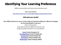 leveraging your learning style effective study strategies the basics 8 identifying your learning preference vark learning styles