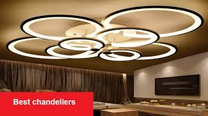 best chandeliers rings white finished led circle modern lights for living room lighting review