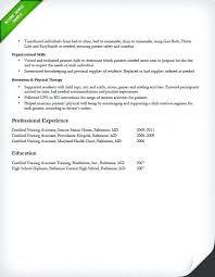 Lpn Job Description For Resume Certified Nursing Assistant
