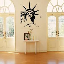 liberty bedroom wall mural: statue of liberty wall art decal sticker vinyl lettering saying quotes wall decor room home mural