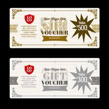 Vector Gift Certificate Template Vector Voucher Fantasy