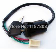 popular honda atv keys buy cheap honda atv keys lots from 10 pcs 4 wire ignition switch lock 2 key for honda gy6 scooter go kart quad