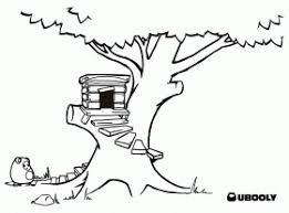 Small Picture Tree House Coloring Page Twisty Noodle Coloring Home