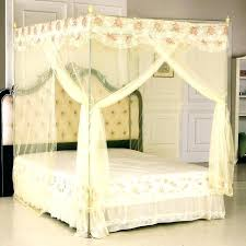 King Size Canopy Bed With Curtains Medium Crown Canopy Bed Curtains ...