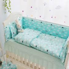 baby sheet sets green clouds 4 10 pcs girls boys baby bedding set cot sets 120 60cm