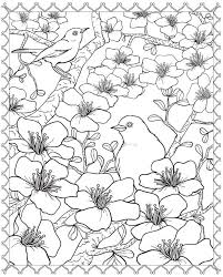 Small Picture blossom coloring page
