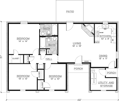 modern floor plans. Contemporary Style House Plan - 3 Beds 2 Baths 1200 Sq/Ft #45-428 Modern Floor Plans