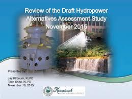 Kennebunk Light And Power Kennebunk Light And Power District Hydropower Assessment Meeting Part 2