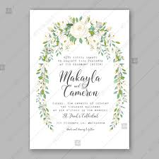 shower invitation templates rose white greenery wedding background vector invitation template bridal shower invite baby birthday baby shower invitation