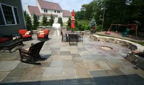 stamped concrete patio with fire pit cost. Rectangles, Fire Pit Site New England Hardscapes Inc Acton, MA Stamped Concrete Patio With Cost U
