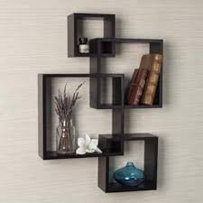 Danya B Intersecting Cube Shelves - Espresso