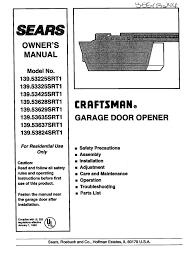 craftsman garage door opener 41a4315 7c manual wageuzi