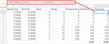 Payroll Time Calculator Payroll Hours Time Calculation In Google Sheets Using Time