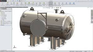 Solidworks Simulation Pressure Vessel Design Solidworks Tutorial How To Make Pressure Vessel In Solidworks