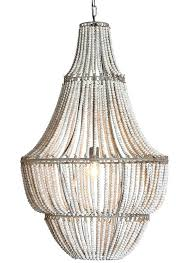 decoration home and interior modern wood bead chandelier large world market from antique whitewash