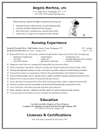 Example Of Nursing Resume 17 Examples Nurse Lpn Entry Experienced