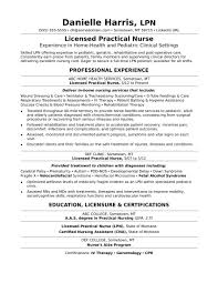 Nurse Resume Template Lpn Resume Template Licensed Practical Nurse Resume Sample 59