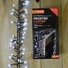 Outdoor Cluster Christmas Lights 720 Led 9 3m Premier Frosted Cluster Christmas Tree Lights Cool White