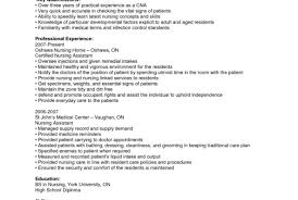 Cna 22 Skills 94 Sample Entry Level Resume For Cna Nursing