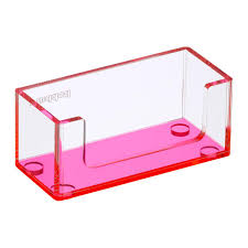 Poppin Neon Pink Acrylic Business Card Holder ...