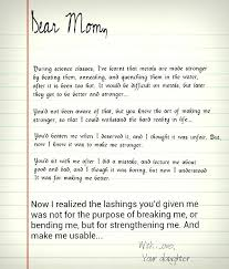 Thank You Letter To Mom From Daughter Sample My Parents On