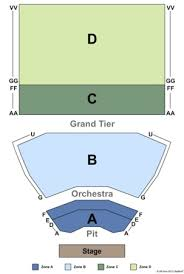 King Center Melbourne Seat Map