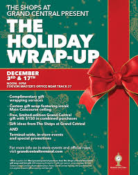gift wrapping fundraiser flyer grand central terminal s free holiday wrap up event