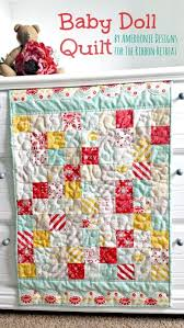 Best 25+ Doll quilt ideas on Pinterest | DIY doll quilt, Mini ... & Baby Doll Quilt Tutorial - The Ribbon Retreat Blog Adamdwight.com