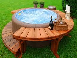luxury barrel hot tub