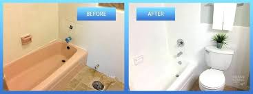 painting bathroom tile before and after painting bathtub refinishing before after painting over old bathroom tiles painting bathroom