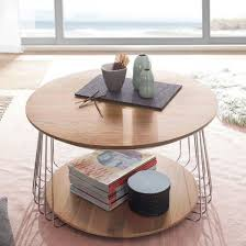 vilnius large round wooden coffee table