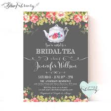 Kitchen Tea Invites Bridal Shower Tea Party Invitations Printable Bridal Shower Tea