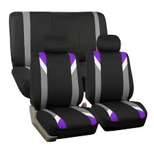 car seat cover set for auto sporty purple w 2 headrests 0