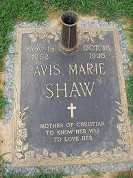Avis Marie Shaw (1962-1995) - Find A Grave Memorial