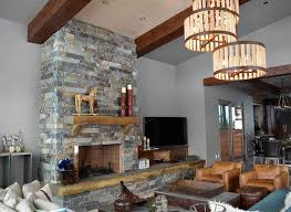 moose mountain ashlar 2 3 thick 4 heights with highlands hearth fireplace hearthmantlerock fireplacesstone
