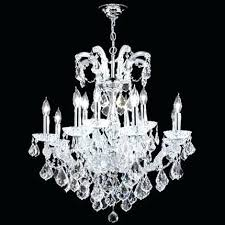 maria grand light crystal chandelier in silver with clear swarovski beads